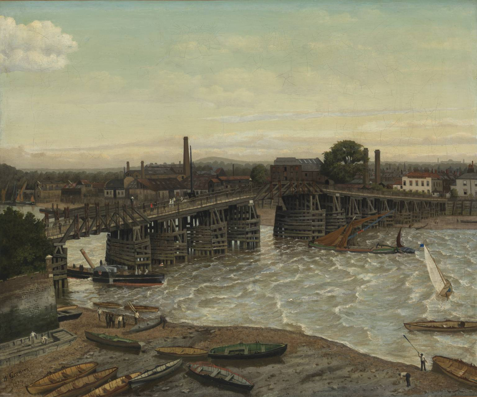 Old Battersea Bridge (1874) by Walter Greaves