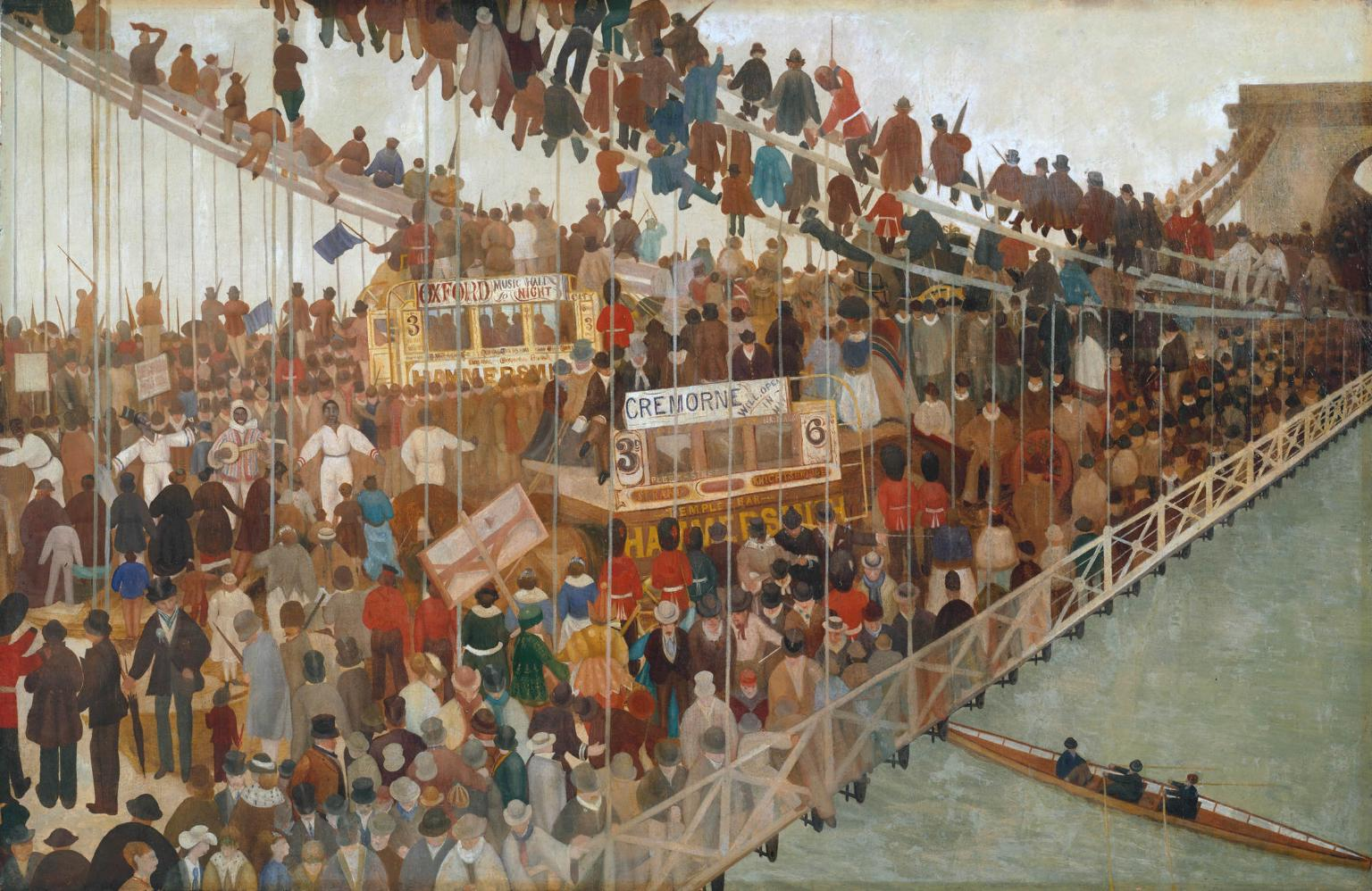 Hammersmith Bridge on Boat-race Day (c. 1862) by Walter Greaves