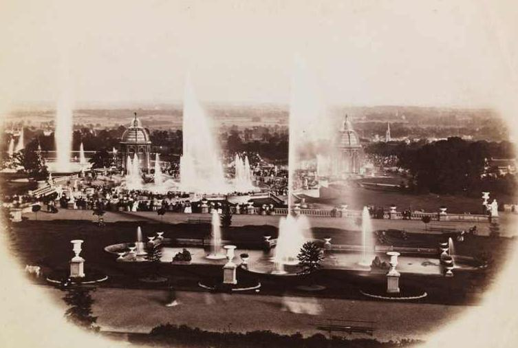 Water Fountains at Crystal Palace (c.1852) by Philip Henry Delamotte