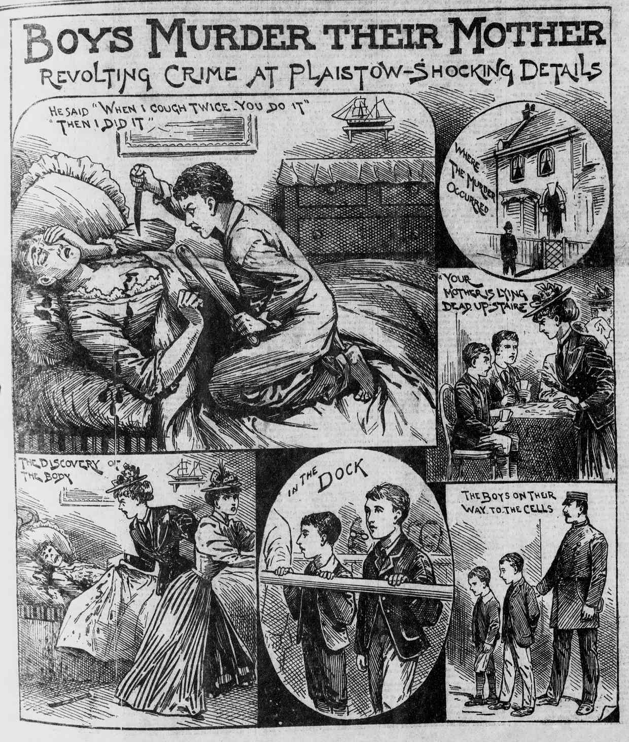 The Illustrated Police News report of the murder of Emily Coombes